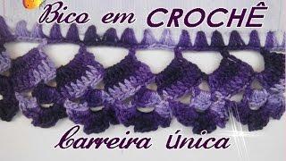 BICO EM CROCHÊ-CARREIRA ÚNICA – Diane Gonçalves