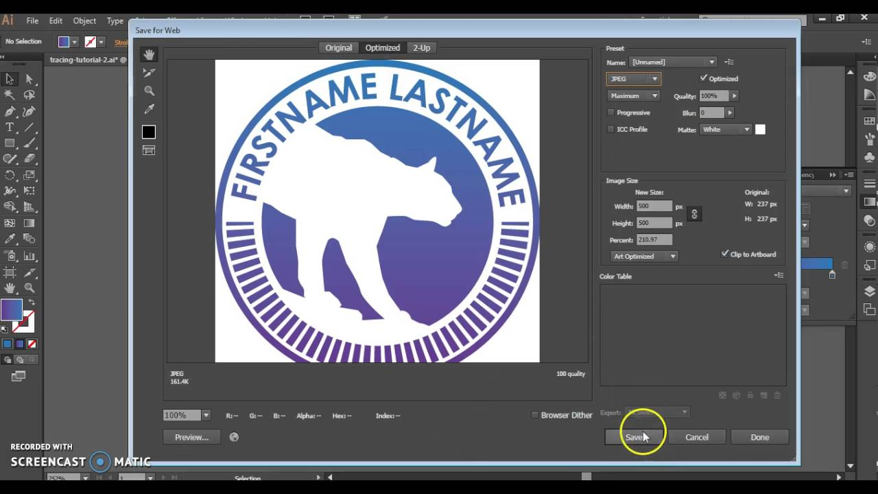 Exporting for the Web in Illustrator CC and CS6