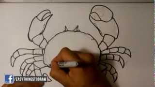 How to Draw a Crab - Easy Drawings