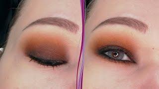 Коричневый макияж глаз в стиле смоки айс Пошаговый урок