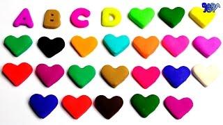 Abecedario en Español para Niños|Corazón con Play Doh|Aprende los colores