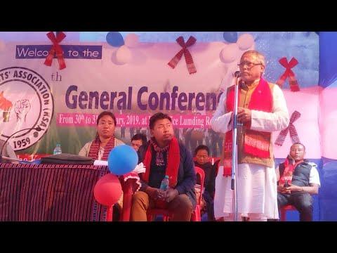 Ex MP Dr. J Rongpi Speech At 30th KSA General Conference