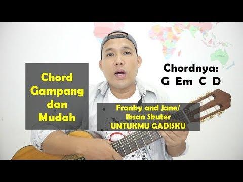 Chord Gampang Dan Mudah - Iksan Skuter/ Franky Jane UNTUKMU GADISKU - Dari G TUTORIAL GITAR