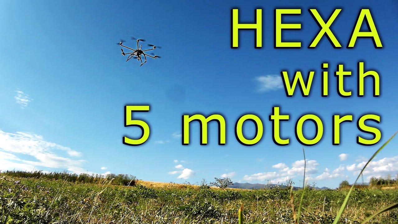 Hexacopter Redundancy - ArduCopter - Flight with 5 motors