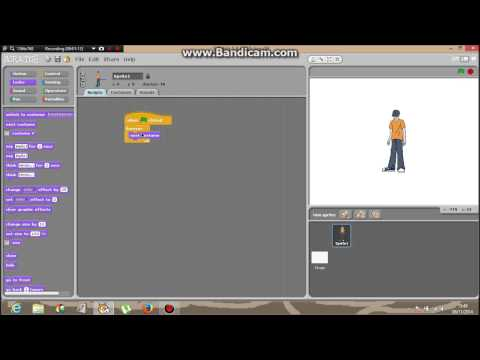 Scratch Tutorial. How To Make  A Sprite Dance With Music In The Backround