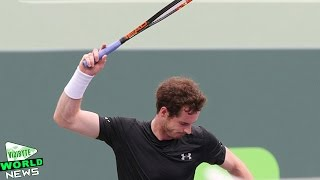 Andy Murray smashes racquet in Miami Open
