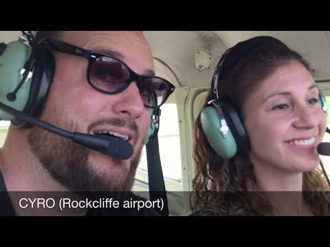 Cessna 172 flight from Ottawa to Toronto City airport