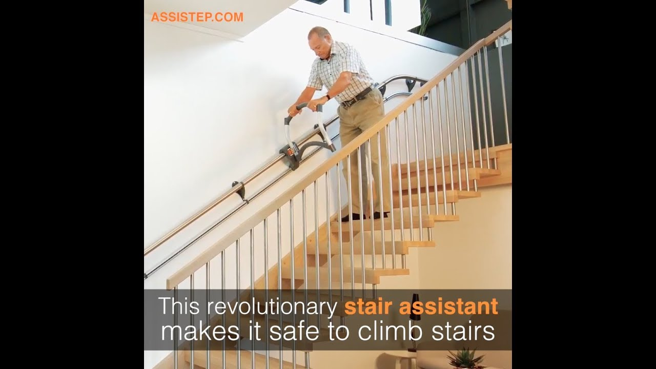 What Alternatives Are There To Stair Lifts Assistep   Stair Rails For Elderly   Stair Climbing   Down Stairs   Wood   Cmmc Handrail   Pipe
