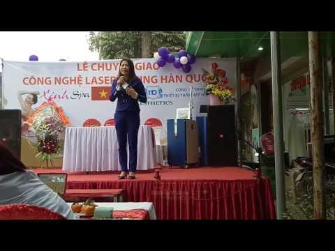 Bà Lê Kiều Duyên chia sẻ kinh nghiệm trong ngành thẩm mỹ tại Lễ chuyển giao công nghệ laser [hqstar]