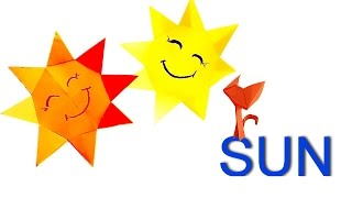 How to make a Paper Sun? Sun Origami for Kids. Crafts easy  in 8 Minutes!