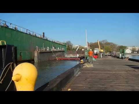 Urban Assembly New York Harbor School EcoDock floated at Union Dry Dock
