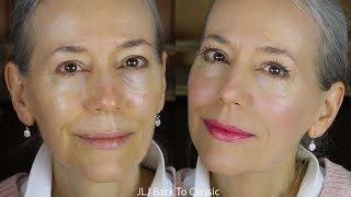 GRWM/Makeup Over 50: Using Powder Foundation on Dry Mature Skin / Classic Green Beauty