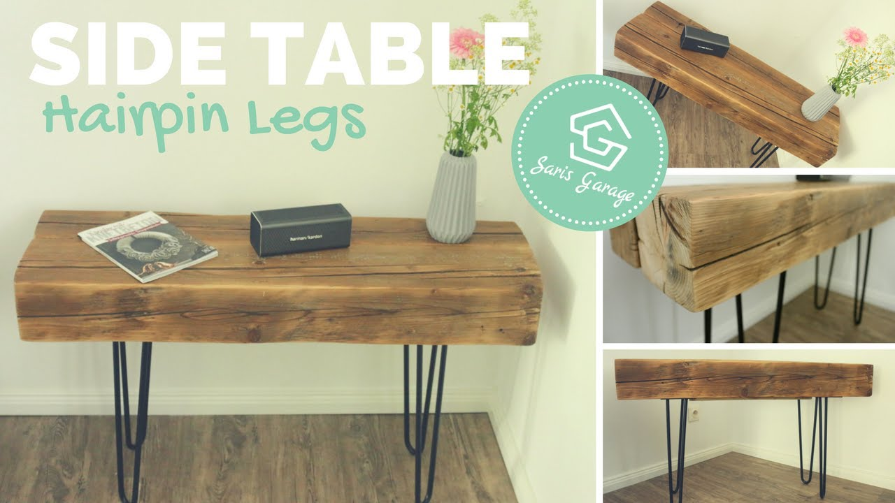 Bank Selbst Bauen Anleitung Hairpin Legs Bank Tisch Coffee Table Side Table Selber Bauen Diy Anleitung Upcycling