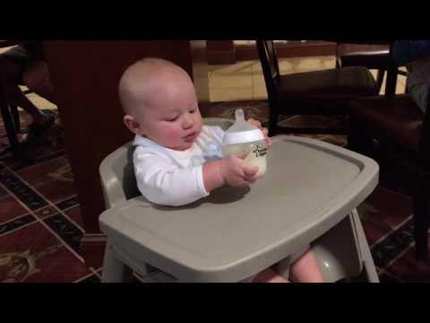 First high chair at restaurant
