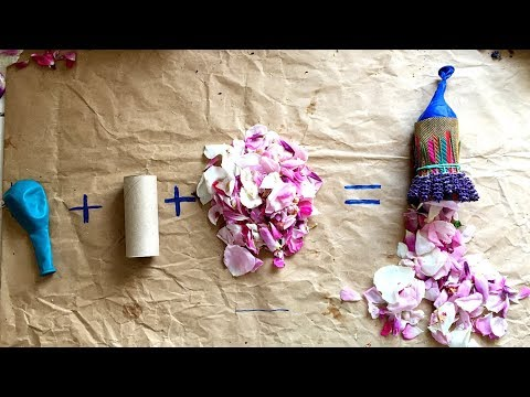 Flower Party Poppers! - a Fun & Easy toilet roll craft - Natural confetti - Kids nature play ideas