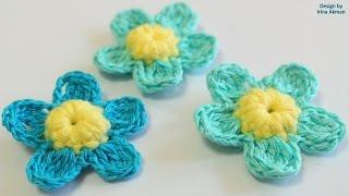 ПРОСТОЙ ЦВЕТОК КРЮЧКОМ. КАК СВЯЗАТЬ ЦВЕТОЧЕК. Crochet flower