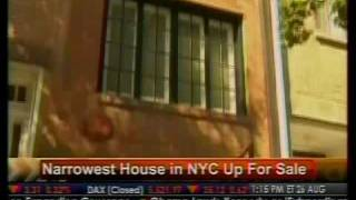 Narrowest House in NYC Up for Sale - Bloomberg