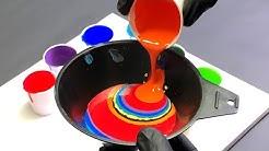 Acrylic Pour Multi Color FUNNEL Technique with Crazy CELLS!! Fluid Art Painting Wigglz Art.