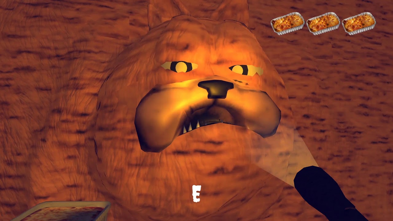 I M Sorry Jon I Was So Hungry Feed Lasagna To Creepy Garfield In Meme Game Gorefield Youtube