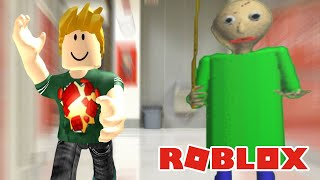 FLEEING THE DIRECTOR at a CRAZY SCHOOL at ROBLOX Baldi's Basics Multiplayer BETA