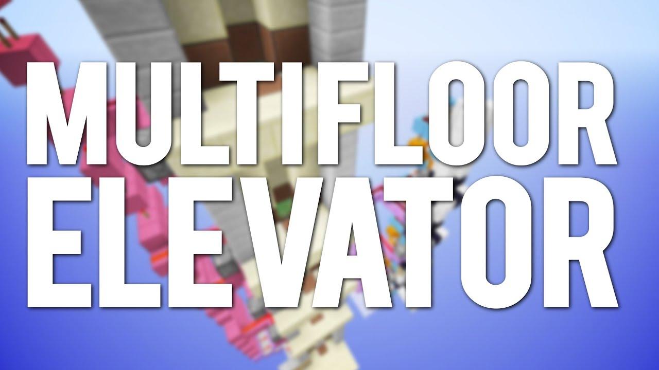 Minecraft Multi Floor Slimeblock Elevator Tutorial Youtube Schematic