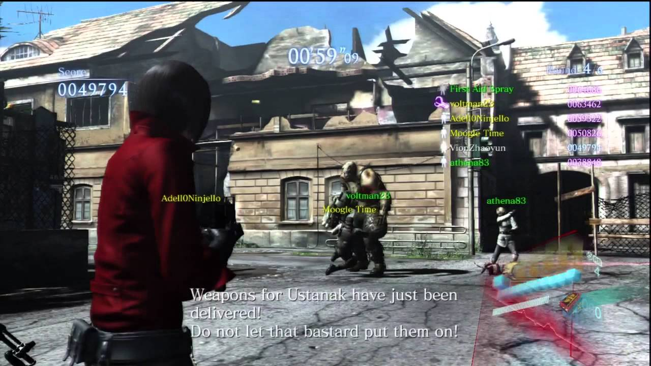 Resident Evil 6 Predator Mode Gameplay Youtube