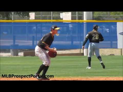 Ji-Hwan Bae defense and ground balls - Pittsburgh Pirates prospect (SS) 2018 MiLB ST
