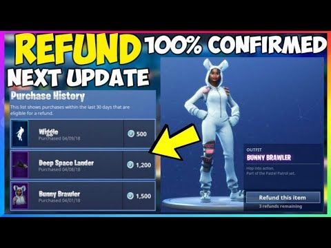 how to use the new refund system in fortnite