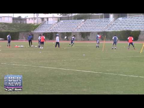 Bermuda Football Team Training, March 28 2015