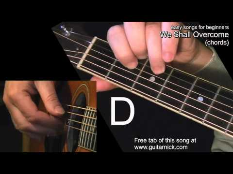 WE SHALL OVERCOME (chords): Guitar Lesson + TAB by GuitarNick