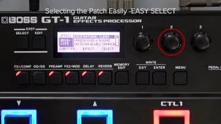 GT-1 Quick Start chapter8 : Selecting the Patch Easily