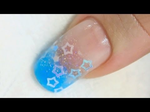 Nail Art Spangles Encased into an Acrylic Nail Tutorial Video by Naio Nails