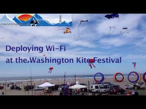 Deploying WIFI at the Washington International Kite Festival