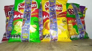 Abriendo Doritos/Cheetos/Ruffles/Sabritas con tazos y Xferas Dragon Ball Super