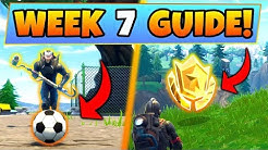 Fortnite WEEK 7 CHALLENGES GUIDE! – SOCCER PITCH LOCATIONS, Treasure MAP (Battle Royale Seeason 4)