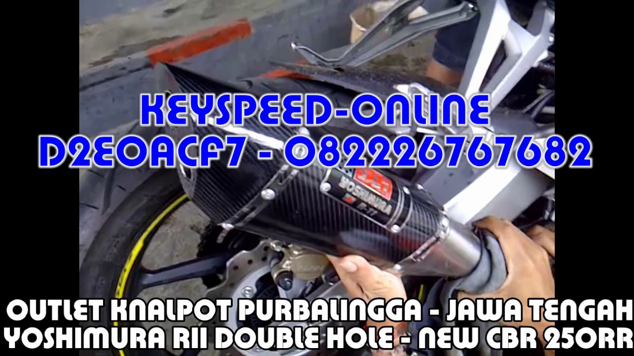 Knalpot New Cbr 250 Rr Slip On Yoshimura R11 Double Hole Youtube All 150r Racing Red Jepara