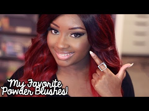 My Favorite Powder Blushes for Deeper Complexions! - YouTube