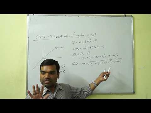 Application of Vectors in 3D II सदिश का 3D में अनुप्रयोग(Lecture 01)