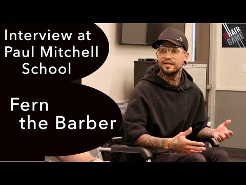 Interview w/ @fernthebarber at Paul Mitchell School in Costa Mesa