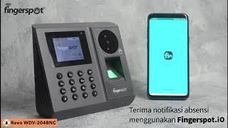 Mesin Absensi Telapak Tangan & Sidik Jari Fingerspot Revo WDV 204 BNC - Fingerprint WiFi Baterai Akses Kontrol Pintu