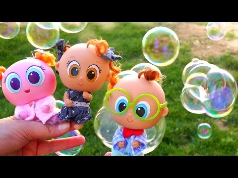 Thumbnail: Toys for Kids Distroller Neonate Toddlers - Family Fun Playing With Soap Bubbles With My Toy Babies