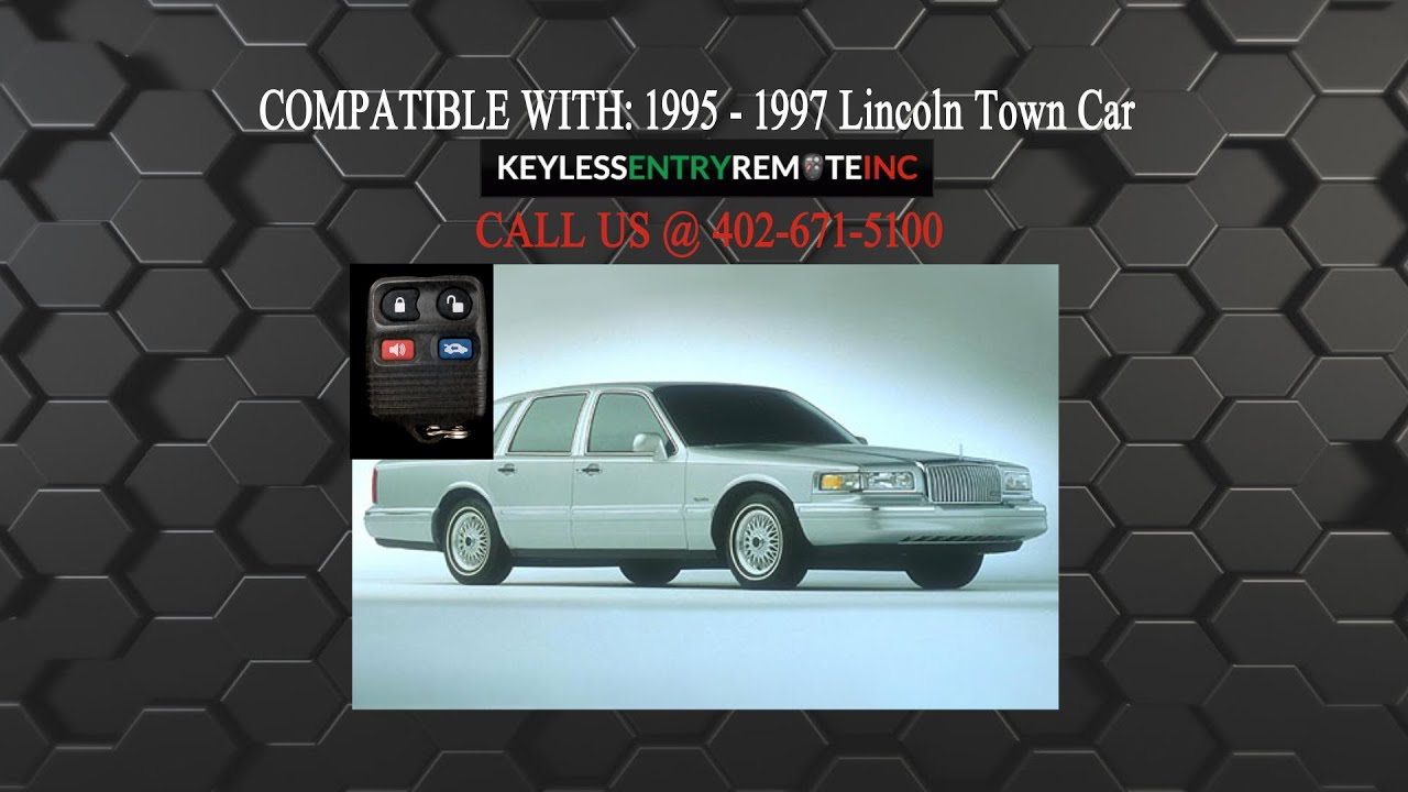 How To Replace Lincoln Town Car Key Fob Battery 1995 1996 1997 Youtube