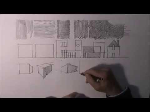 architektur zeichnen lernen 2 youtube. Black Bedroom Furniture Sets. Home Design Ideas