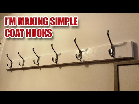 Making a Simple Coat Hook Rack with Hidden Fixings [40]