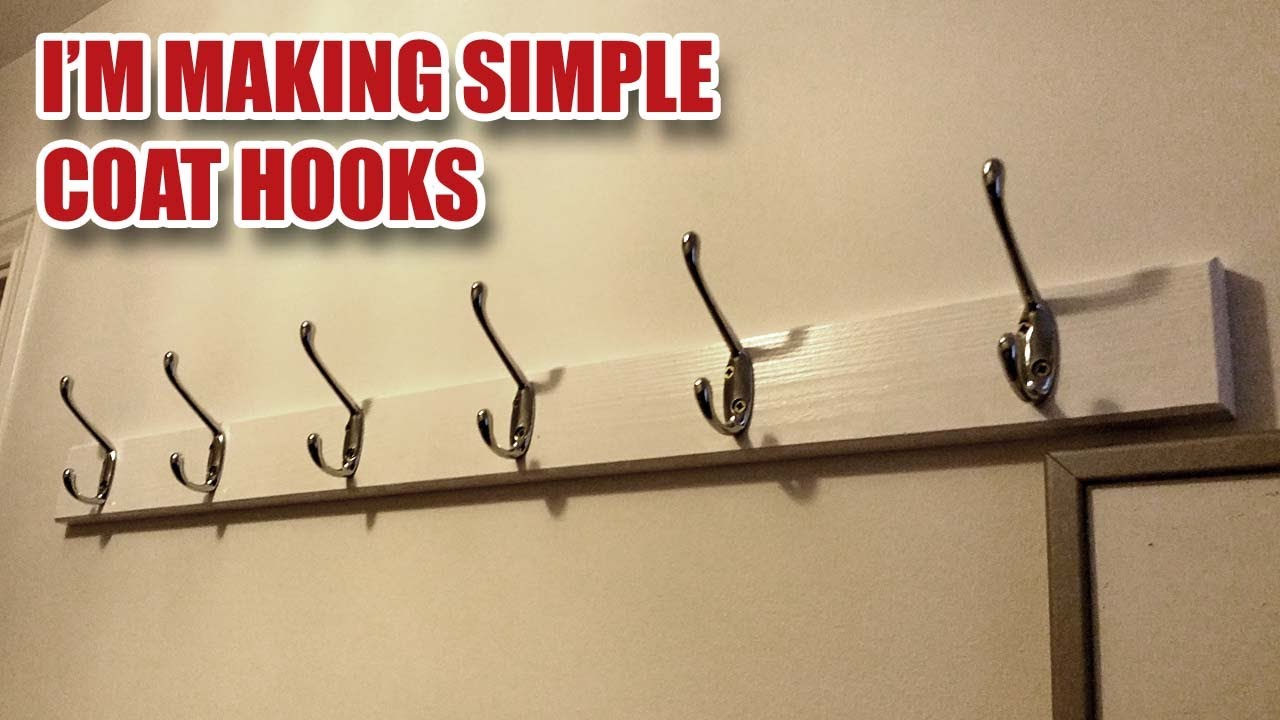 Making a Simple Coat Hook Rack with Hidden Fixings [40] - YouTube
