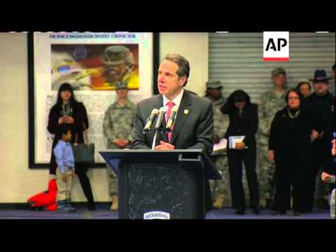 Gov. Andrew Cuomo (D-NY) And The Secretary Of The U.S. Army Attended The Official Ceremony Welcoming