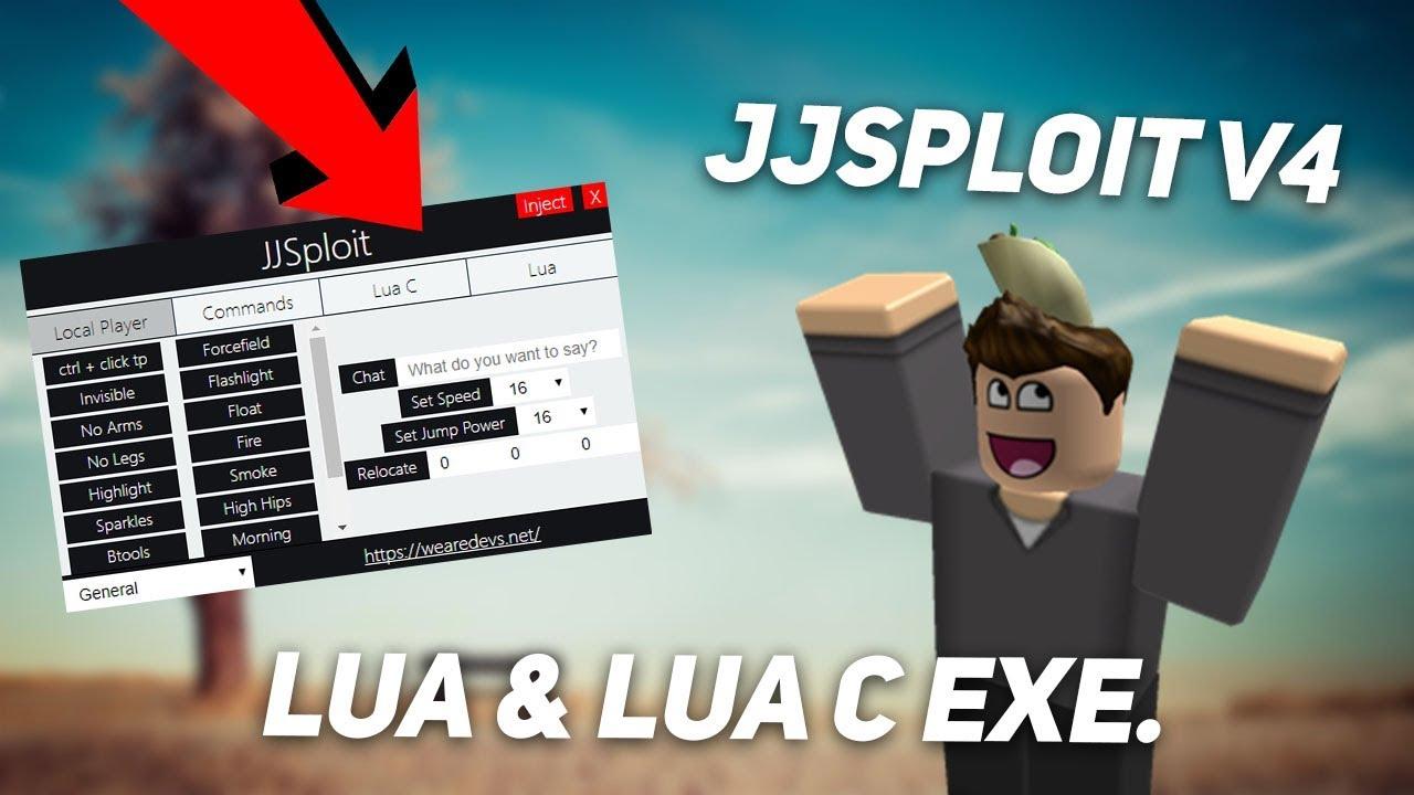 OP ROBLOX HACK/EXPLOIT: JJSPLOIT V4 [WORKING] NEAR FULL LUA & FULL LUA C  EXE  W/ CLICK TP  (July 26)