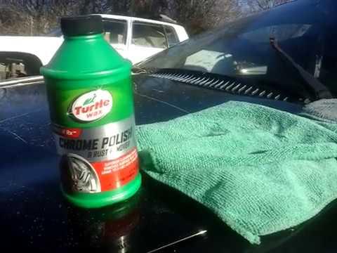 Turtle wax chrome polish test review on chrome wheel cover
