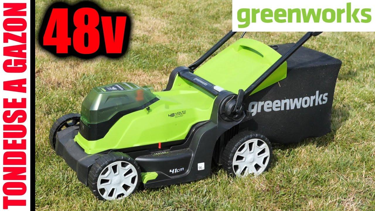 Download GREENWORKS tondeuse à gazon 48V et 40V sans fil 41CM 50L G2x24LM41K2 G40LM41K2X