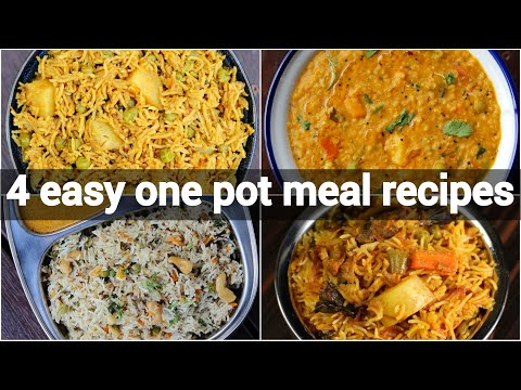4 One Pot Meal Indian Recipes | Healthy Instant Recipes | Quick Indian Recipes | One Pot Recipes
